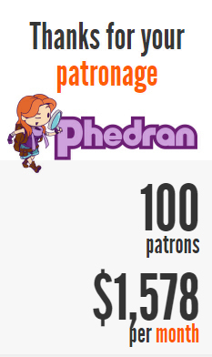 Phedran Patreon $1001 goal reached